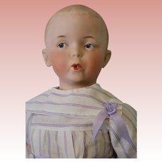 13 inch Antique Whistling Jim Gebruder Heubach bisque doll Works Original body