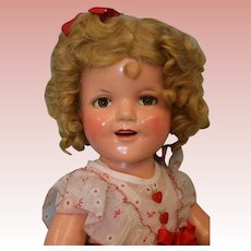 Glorious 22 Inch Ideal Shirley Temple Doll 1936 Hearts Original Dress WOW!