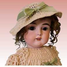 """23"""" Antique Kestner 167 Bisque Doll Germany c.1898 ball joint body Mohair wig"""