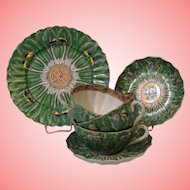 Antique 6 Pieces Chinese Butterfly Medallion china dishes 1870-1890