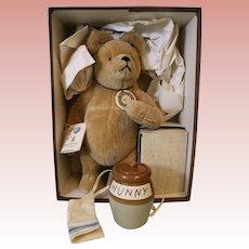"15-inch American brown bear R. John Wright ""Winnie The Pooh"" Mint in origial box"