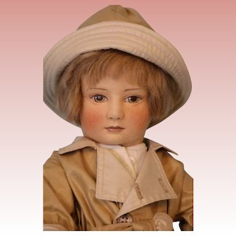"18-inch American felt doll ""Christopher Robin"" By R.John Wright #196/500 No Box"