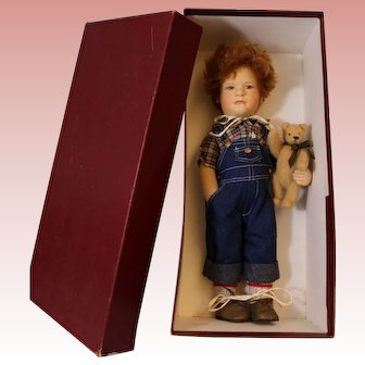 "18 Inch ""Patrick"" By R. John Wright #122/250 Mint in Box Rare Doll American Art"