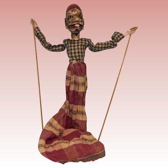 20-Inch Vintage Handmade Asian Stick Puppet