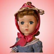 18 inch Madame Alexander Me and My Shadow Victoria 1954 HP Walker doll Original