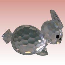 Swarovski crystal Bunny Rabbit 1-1/2 inch figurine 7678 Retired Has box