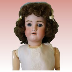 30-inch Antique Simon Halbig Handwerck German bisque doll Blue sleep eyes Ca1910