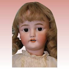 28-inch Antique Simon Halbig CM Bergman German bisque doll Big brown eyes