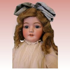 30-inch antique DEP 1079 Simon & Halbig doll Ball jointed body, blue sleep eyes