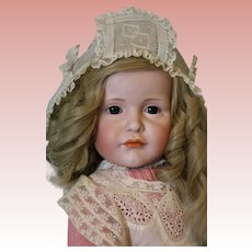 "Antique 23"" Kammer and Reinhardt 114 Gretchen Glass eyes Character Doll Superb"