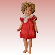 "1935 Ideal 25"" Flirty eye Shirley Temple Doll Excellent Condition with Button"
