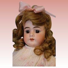 "23"" Antique Handwerck German Bisque Doll Model 99 Cute Dress! c.1900"