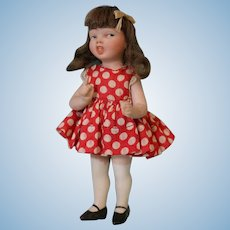 """5 Inch Jeanne Orsini """"Mimi"""" Antique All Bisque Character Doll"""