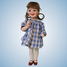 """5 Inch Jeanne Orsini """"Vivi"""", Glass Eyed All Bisque Antique Character Doll"""