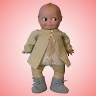 Antique 20 Inch Rare Composition Kewpie Weighs As Much As Real Baby CUTE