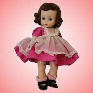 8-inch Madame Alexander strung doll,tripled stiched wig,rosy cheeks,flutter eyes