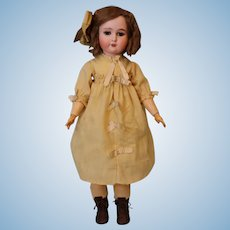 24.5 Inch Antique Adolf Wislizenus A W Special German Bisque Doll circa 1910