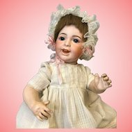 15 Inch antique SFBJ 236 character baby Laughing Jumeau doll Orig label body
