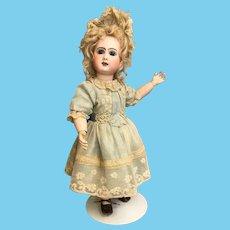 """18"""" Antique Phenix Star French bisque Bebe Doll Steiner 1890s Blonde mohair wig"""