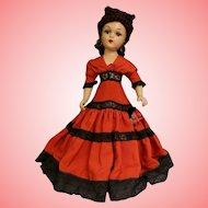"""21"""" Madame Alexander Carmen Portrait doll Composition 1938, 1946 Original clothes"""