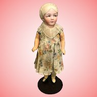 8.5 Inch Antique Bisque Character Girl Hertwig Doll Family variation 1914