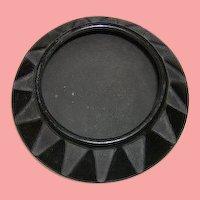 Signed Juanita Poly Chrome Pot BLACK