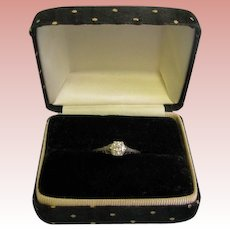 Beautiful Ladies Diamond Engagement Ring Stamped Platinum size 8 .68ct VVS2