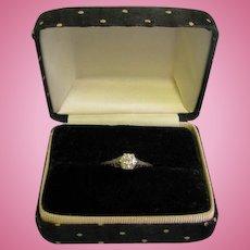 Beautiful Ladies Diamond Engagement Ring Stamped Platinum size 8 .68ct VVS2