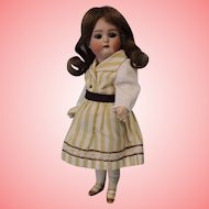 9 inch Early K star R Doll c1890 Early L Mark, Glass Sleep Eyes, Two Strap Shoes