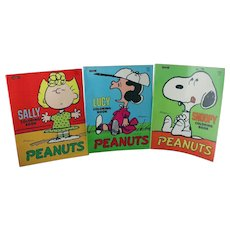 Set of Three PEANUTS Charlie Brown Coloring Books MINT!
