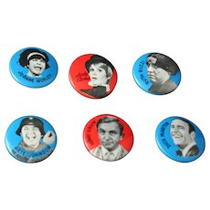 Rare set of Vintage Laugh In Pinback Buttons Rowen and Martin