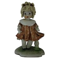 Rare and Collectible Zampiva Porcelain Figurine of Baby Doll Girl Blonde