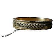 Lovely Victorian Etruscan Revival Bangle Bracelet