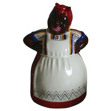 Darling BRAYTON LAGUNA Mammy in Red Dress Cookie Jar, Circa 1943