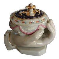 Lovely Victorian Porcelain Fairing with Hand Holding Box by Conta and Boehme
