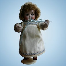 """RARE and Authentic KESTNER GOOGLY Eyed All Bisque Jointed Limb 6"""" Doll"""