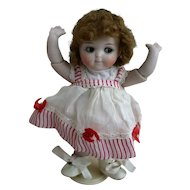 Vintage Tagged VOGUE GINNY Red and White Striped Doll Dress Circa 1950s