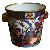 Lovely Vintage IMARI Ice Bucket in Cobalt with Gold Gild