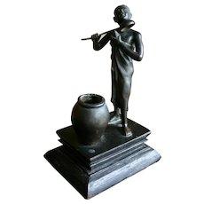 Rare and Unusual Antique Bronze Figurine of Chinese Maiden at Bath- EXQUISITE!