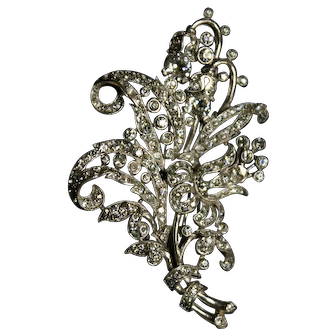 Glorious Vintage CROWN TRIFARI Fur Clip Designed by Alfred Philippe 1940's