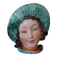 Rare! ~Art Deco~ MAX ROESLER German Lady's Head Face Vase