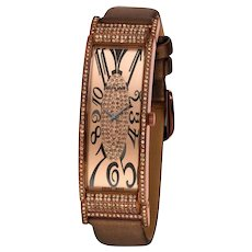 Stunning LE VIAN Art Deco Chocolate Diamond Watch