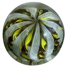 Vintage 1940's Fratelli Toso Zanfirico Aventurine Art Glass Paperweight