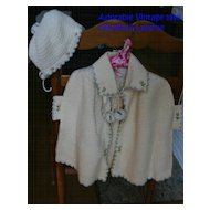 Award Winning! Vintage 1940's Handknit Heirloom Baby Layette