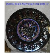 Rare Antique Imperial Purple Heavy Grape Chop Plate