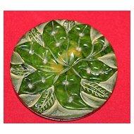 VINTAGE 1930's Carved BAKELITE Hawaiiana Flower Brooch