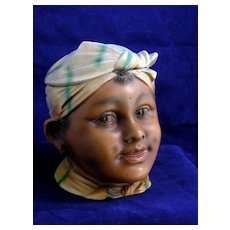 Rare Early Black Americana Humidor- Young Servant Girl