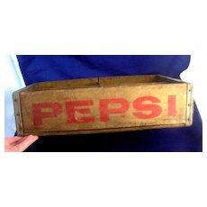 Antique Advertising PEPSI Wooden Crate Case