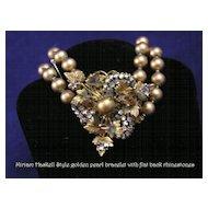 Gorgeous Vintage Miriam Haskell Style Pearl Bracelet