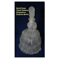Art Deco  MADAME POMPADOUR Frosted Czech Glass Figural Perfume Bottle